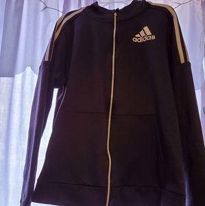Adidas Grey Zipper Hoodie